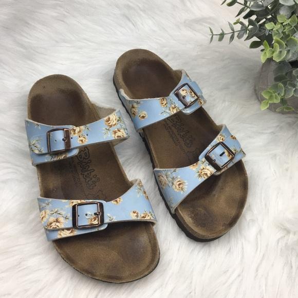 Birkenstock Birkis Blue Floral Sandals